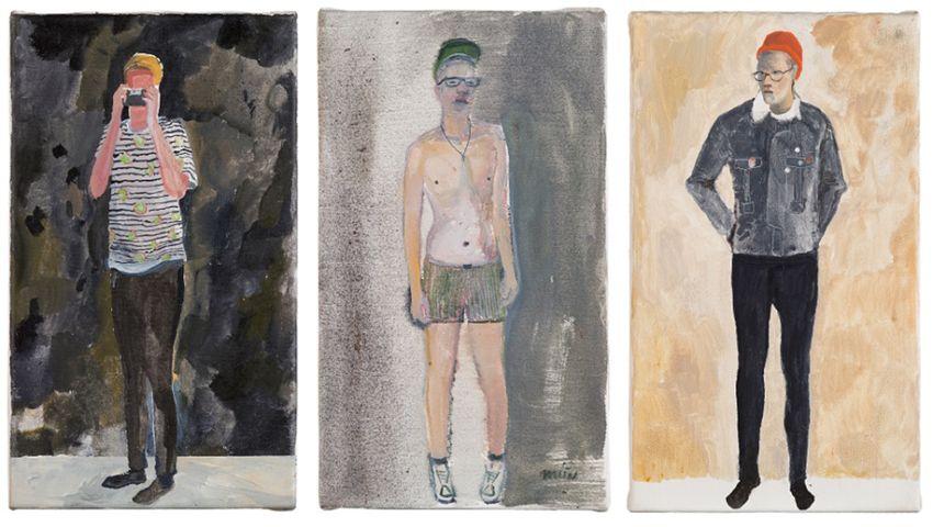 Michal Drozen, Little heroes, 2014, olej na plátně, 35 x 20 cm